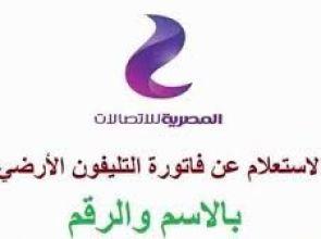 خطوات الاستعلام عن فواتير التليفون الارضى بالاسم والرقم موقع المصرية للاتصالات